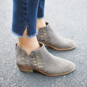 Vince Camuto Gray Peera Ankle Boots
